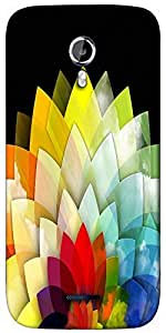 Snoogg colorful flower petals 2768 Designer Protective Back Case Cover For Micromax A117