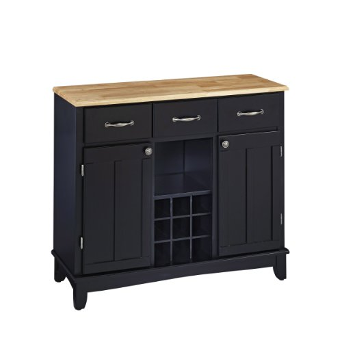 Home Styles 5100-0041 5001 Series Natural Wood Top Buffet Server, Black Finish (Buffet Style Server compare prices)
