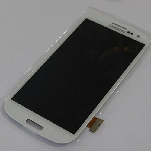 Full Screen Touch Screen Digitizer + Lcd Screen Display Panel + Frame Repair Replacement Fix Parts Samsung Galaxy S3 Siii Gt-I9300 (White)