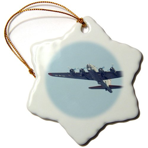 orn_97120_1 Danita Delimont - War Planes - B-17 G Flying Fortress, War plane - US50 BFR0041 - Bernard Friel - Ornaments - 3 inch Snowflake Porcelain Ornament