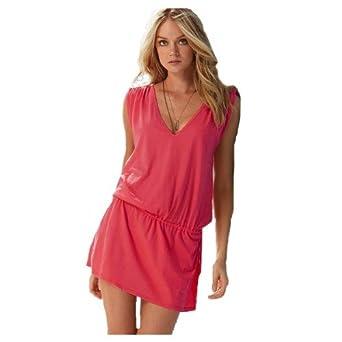 waooh fashion kleid tunika strand lycra rosa bekleidung. Black Bedroom Furniture Sets. Home Design Ideas