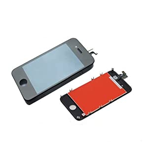 For iphone 4S black full lcd screen + digitizer assembly replacement
