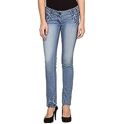 Species Women's Slim Fit Jeans (S-457_Blue_Medium)