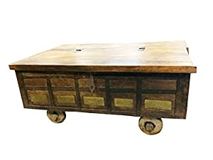 Country Style Coffee Table Antique Chest On Wheels Hope Chest Coffee