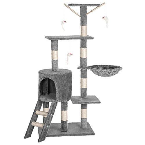 TecTake Tiragraffi per gatti gatto gioco palestra sisal nuovo altezza media grigio