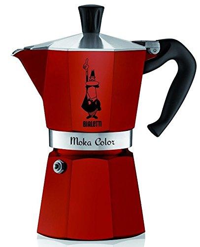 Bialetti Moka Color 6 Cup Stovetop Espresso Coffee Maker Pot Latte Red (Red Bialetti compare prices)