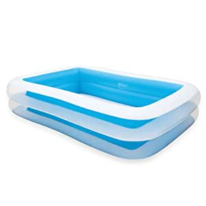 Piscina inflable piscina azul y blanca for Amazon piscinas infantiles