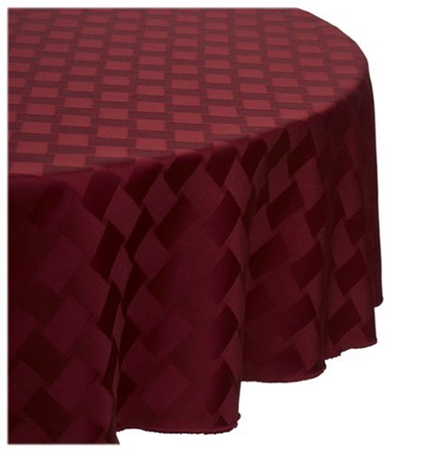 Reflections 70-Inch Round Tablecloth, Merlot