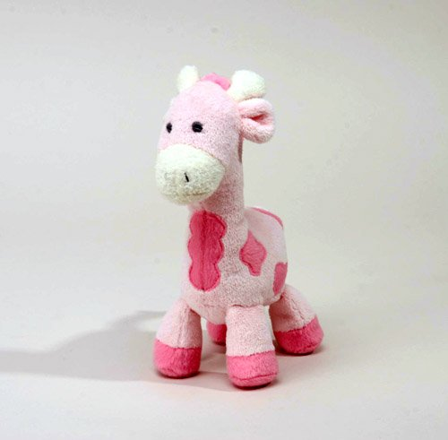 "Joy Rattle Giraffe Pink 8"" by Unipak - 1"