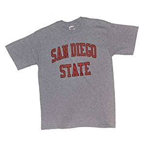 San Diego State Aztecs T-shirt - Heather With Arch Print by SportShack INC