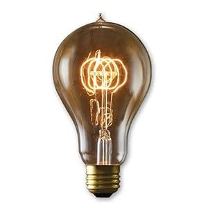 6 Qty. Bulbrite NOS25-VICTOR/A23 25-Watt Nostalgic Incandescent Edison A23, Victorian Loop Filament, Medium Base, Antique Bulb