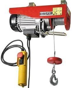 Paranco argano montacarico montacarichi elettrico 125 for Cestello per montacarichi amazon