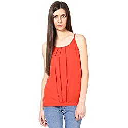 Shibori Women's Balloon Crape Top With Adjusters (TP1500CR_Red_X-Large)