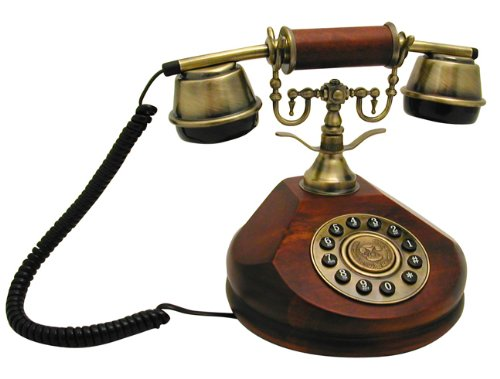 Steepletone Nostalgia Desktop SNW17 C Teléfono fijo estilo antiguo color madera oscura