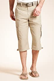 3/4 Trekking Shorts with Belt [T17-7820B-S]
