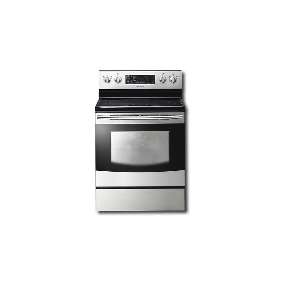 Samsung FTQ353IWUX 30 Stainless Steel Electric Smoothtop Range   Convection