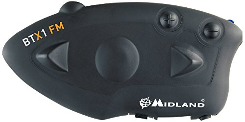 Midland BTX1 FM - motorcycle intercoms (3.0, Negro, CE, FCC, Litio, 12h)