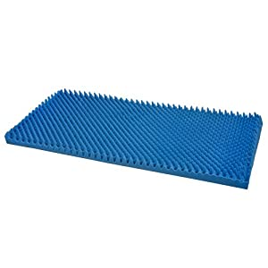 Duro-Med Convoluted Bed Pad Hospital-Size Bed Pad, Blue, 33 Inch x 72 Inch x 3 Inch
