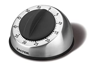 Salter Mechanical 60-Minute Countdown Mechanical Timer, Stainless Steel