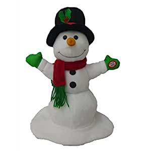 BZB Goods Singing Spinning Snowman Polyester Musical Animatronic Plush Toy Christmas Collectible