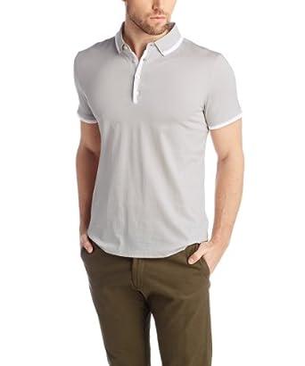 ESPRIT Collection Men's 034EO2K009 Short Sleeve Shirt, Sky Grey, X-Large