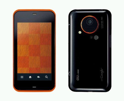中古 IS03(SH) オレンジ 携帯電話 白ロム au