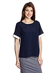 French Connection Women's Tunic Top (72FFH_Nocturnal and White_Small)
