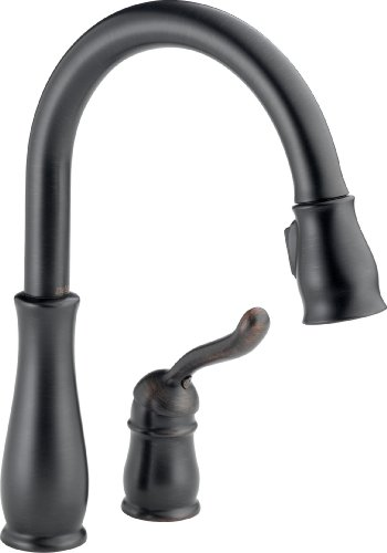 Delta 978-RB-DST Leland Single Handle Pull-Down Kitchen Faucet, Venetian Bronze