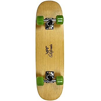 "MPI Vintage NOS 1970S Old School Wood Reverse Camber Skateboard Complete, 7.75"", Multicolor"