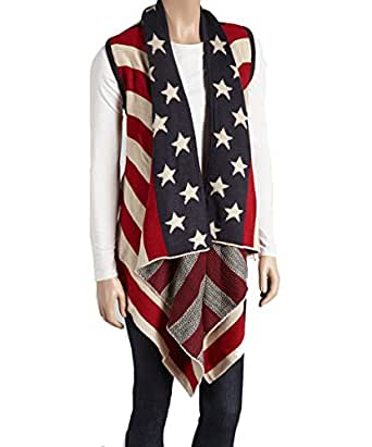Amtal Red, White & Blue Americana Cardigan Vest - American