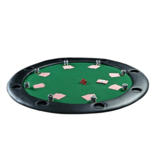 TEXAS CASINO ROUND POKER TABLE FOLDING FOLDABLE LEGS 8 SEATER + CUP HOLDERS UK