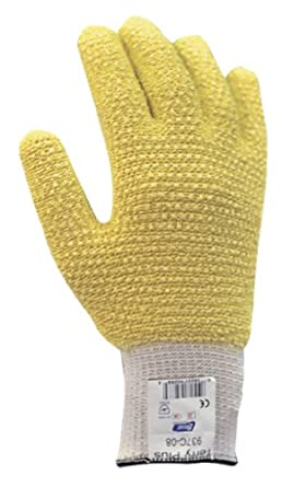 Showa Best 937C Terry Plus Kevlar/Cotton Loop-out Dotted Fiber Glove, Cut Resistant