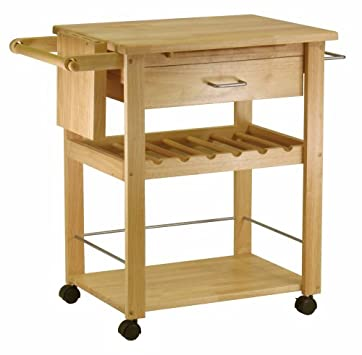 Best Serving Carts Winsome Wood Kitchen Cart Natural