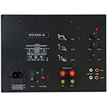 Yung SD300-6 300W Class D Subwoofer Plate Amplifier Module with 6 dB @ 30 Hz