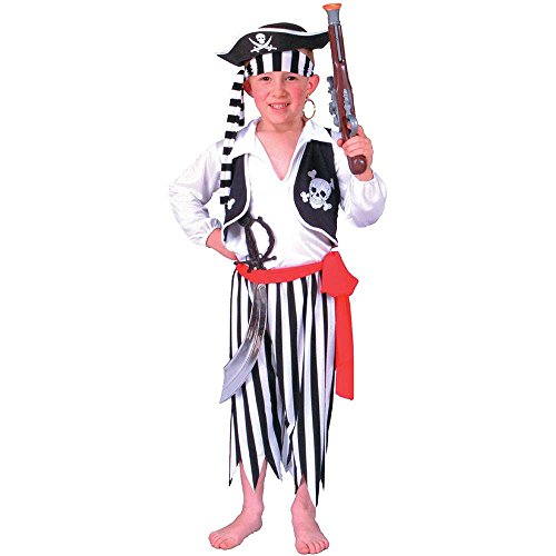 Black & White Pirate Boy Kids Costume