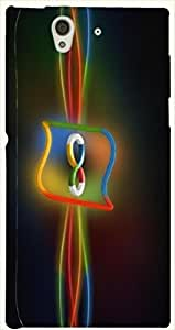 Dazzling multicolor printed protective REBEL mobile back cover for Sony Xperia Z L36h D.No.N-L-10125-S36