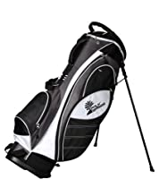 PALM SPRINGS GOLF Grey/White Stand Bag with EZ Grab Handle [Misc.]