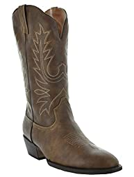 Country Love Boot\'s Round Toe Women\'s Cowboy Boots W1001-1002 (8.5, Brown)