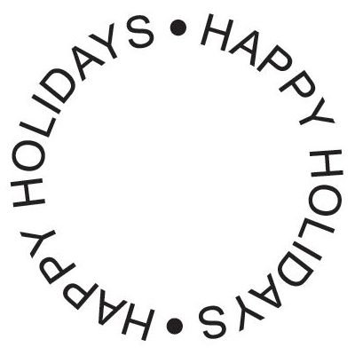 6 Pack STAMP HAPPY HOLIDAYS CIRCLE Papercraft, Scrapbooking (Source Book)