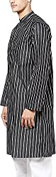 EVEN Men's Cotton Regular Fit Kurta(LK MMS9874 BK01, Black, XL)