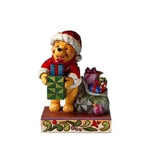 Figurine disney winnie l 39 ourson distribuant des cadeaux - Decoration de noel amazon ...
