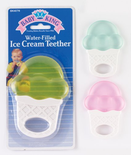 Baby King water-filled ice cream cone shaped Teether