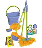 """Kids Cleaning Set - Mini Cleaning Set For Toddlers & Kids Ages 2-4. Housekeeping Cleaning Supplies with Toy Broom/Duster/Brush/Dust Pan/Mop & More, """"Hours of Fun & Pretend Play"""""""