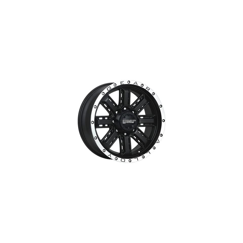 Gear Alloy Nitro 20x9 Black Wheel / Rim 8x6.5 with a 0mm Offset and a 130.20 Hub Bore. Partnumber 723MB 2098100