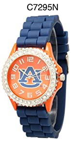 NCAA Officially Licensed Auburn Tigers Mens Gametime Round-faced Watch (Blue Band)
