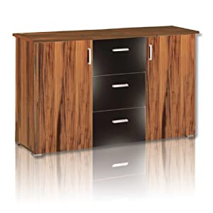 roller sideboard swift nussbaum schwarz kommode schrank k che haushalt. Black Bedroom Furniture Sets. Home Design Ideas