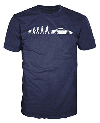 porsche-911-evolution-funny-t-shirt-l-navy-blue