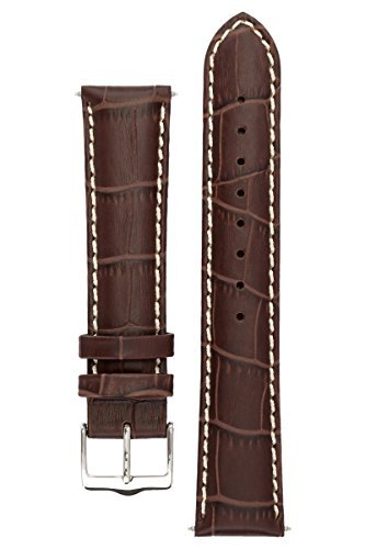 signature-montana-in-coffee-21-mm-watch-band-replacement-watch-strap-genuine-leather-silver-buckle