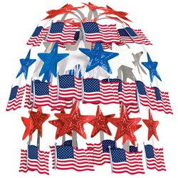 Flag Cascade Party Accessory (1 count) (1/Pkg)