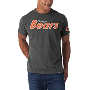 NFL Chicago Bears Men's Fieldhouse Basic Tee, Large, Blacktop Grey